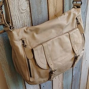Sabina Soft Gray Leather Satchel